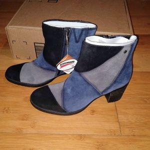 Earth Malta Boot Booties Kalso Leather Patchwork